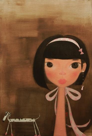 Her Short Hair, Oil on canvas - 120 x 80cm - 2008